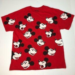 Disney Mickey Mouse T-shirt Large Mickey Head